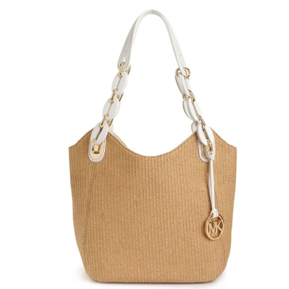 b1e7a700698b ... closeout michael kors lilly tote summer straw woven bag c718e ebeee ...